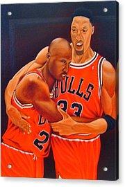 Jordan And Pippen Acrylic Print