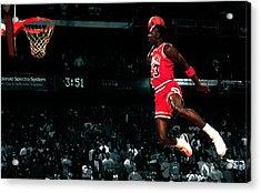 Jordan In Flight Acrylic Print by Brian Reaves