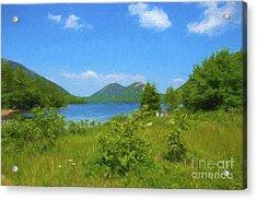 Jordan Pond Acadia National Park Acrylic Print by Diane Diederich