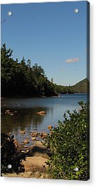 Acrylic Print featuring the photograph Jordan Pond Bar Harbor Maine by Jennifer Wheatley Wolf