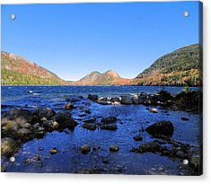 Acrylic Print featuring the photograph Jordon Pond 2 by Gene Cyr