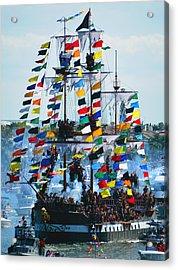 Jose Gasparilla Ship Work B Acrylic Print