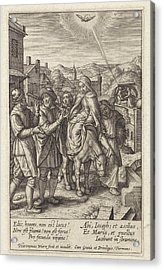 Joseph And Mary Are Refused At The Inn, Print Maker Acrylic Print