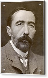 Joseph Conrad  Polish-born Writer Acrylic Print by Mary Evans Picture Library