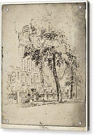 Joseph Pennell, Big Tree, Cheyne Walk, American Acrylic Print