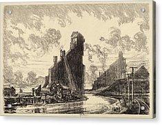 Joseph Pennell, Coal Breaker On The River Acrylic Print