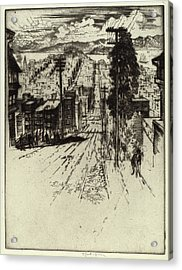 Joseph Pennell, Down And Up The Hills To The Bay Acrylic Print