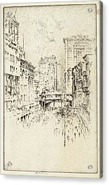 Joseph Pennell, Forty-second Street, American Acrylic Print