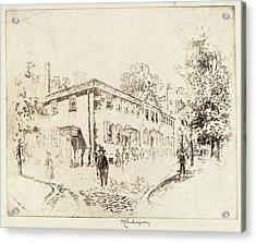 Joseph Pennell, Fourth Street, Meeting House Acrylic Print