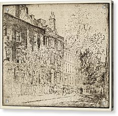 Joseph Pennell, Great College Street, Westminster Acrylic Print