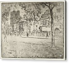 Joseph Pennell, House Where Whistler Died Acrylic Print