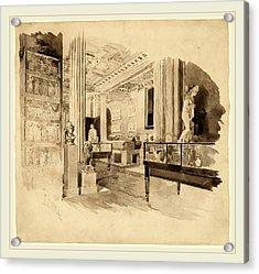 Joseph Pennell, Interior, Fitzwilliam Museum Acrylic Print