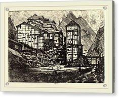 Joseph Pennell, Old Million Eyes, American Acrylic Print
