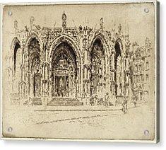Joseph Pennell, Porch Of San Maclou, Rouen Acrylic Print