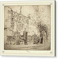 Joseph Pennell, Rossettis House, American Acrylic Print
