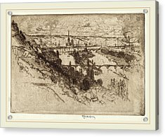 Joseph Pennell, Rouen, From Bon Secours, American Acrylic Print