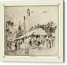 Joseph Pennell, Second Street Market, Philadelphia Acrylic Print