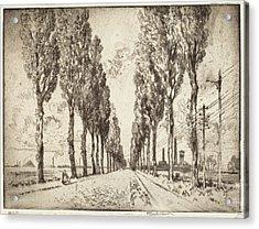 Joseph Pennell, The Avenue, Valenciennes Acrylic Print