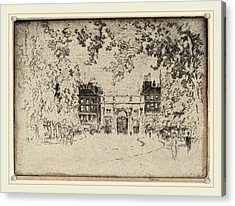 Joseph Pennell, The Marble Arch, American Acrylic Print