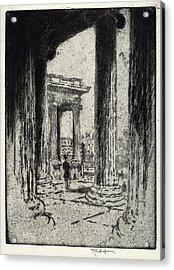 Joseph Pennell, The Portico, British Museum Acrylic Print