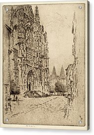 Joseph Pennell, Towers Of The Bishops Palace Acrylic Print