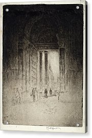 Joseph Pennell, West Door Acrylic Print