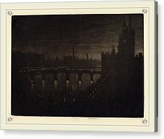Joseph Pennell, Westminster, Evening, American Acrylic Print