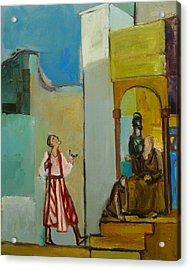 Joseph Sent To His Brothers Acrylic Print by Richard Mcbee
