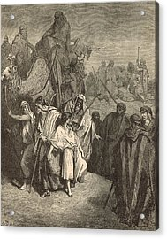 Joseph Sold Into Egypt Acrylic Print by Antique Engravings