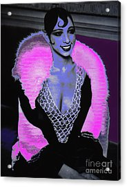 Josephine Baker The Original Flapper Acrylic Print by Saundra Myles
