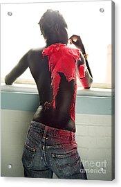 Josephine Red Acrylic Print by Rebecca Harman