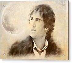 Josh Groban On A Cold Winter Night Acrylic Print by Angela A Stanton