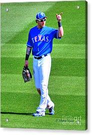 Josh Hamilton 32 Texas Rangers Acrylic Print