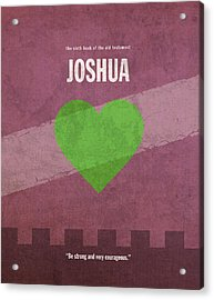 Joshua Books Of The Bible Series Old Testament Minimal Poster Art Number 6 Acrylic Print