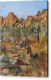 Joshua Ghost Trees Acrylic Print by Lynne Bolwell