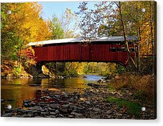 Josiah Hess Covered Bridge Acrylic Print