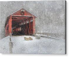 Josiah Hess Covered Bridge Acrylic Print by Lori Deiter