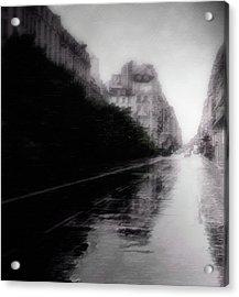 Jour De Pluie Acrylic Print by David Fox