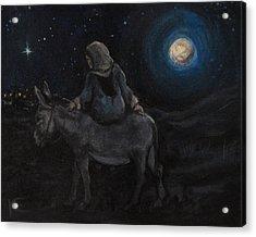 Journey To Bethlehem Acrylic Print by Kim Marshall