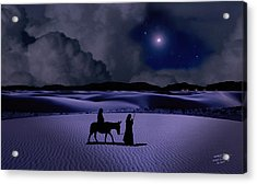 Journey To Bethlehem Acrylic Print by Schwartz
