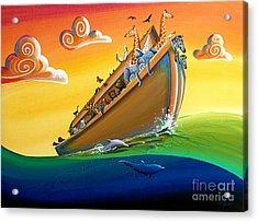 Noah's Ark - Journey To New Beginnings Acrylic Print by Cindy Thornton