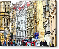 Journey To Prague Acrylic Print by Ira Shander