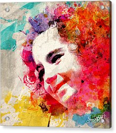 JOY Acrylic Print by Donika Nikova