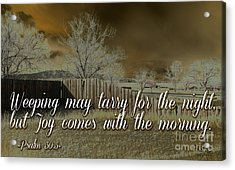 Joy In The Morning Acrylic Print