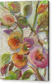 Acrylic Print featuring the painting Joy by Mary Wolf