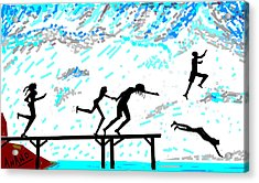 Joy Of Freedom-d Acrylic Print by Anand Swaroop Manchiraju