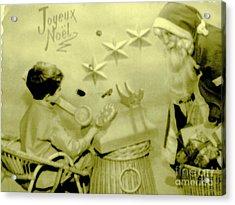 Joyeux Noel - Merry Christmas - Ile De La Reunion - Indian Ocean Acrylic Print by Francoise Leandre