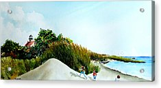 Joyful Day At East Point Light House  Acrylic Print