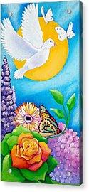 Joyful Garden #1 Right Panel Acrylic Print