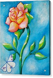 Joyful Garden #2 Top Panel Acrylic Print